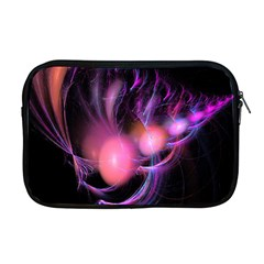 Fractal Image Of Pink Balls Whooshing Into The Distance Apple Macbook Pro 17  Zipper Case by Simbadda