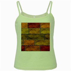 Classic Color Bricks Gradient Wall Green Spaghetti Tank