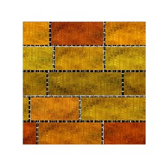 Classic Color Bricks Gradient Wall Small Satin Scarf (square) by Simbadda