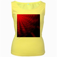 A Large Background With A Burst Design And Lots Of Details Women s Yellow Tank Top