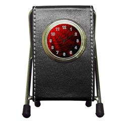 A Large Background With A Burst Design And Lots Of Details Pen Holder Desk Clocks by Simbadda