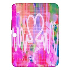 Watercolour Heartbeat Monitor Samsung Galaxy Tab 3 (10 1 ) P5200 Hardshell Case
