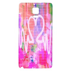 Watercolour Heartbeat Monitor Galaxy Note 4 Back Case