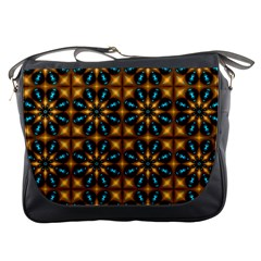 Abstract Daisies Messenger Bags