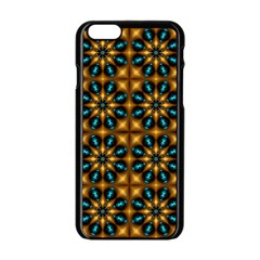 Abstract Daisies Apple Iphone 6/6s Black Enamel Case by Simbadda