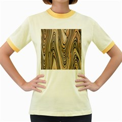 Abstract Background Design Women s Fitted Ringer T Shirts