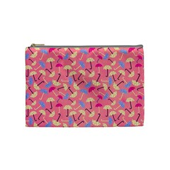 Umbrella Seamless Pattern Pink Cosmetic Bag (medium)  by Simbadda