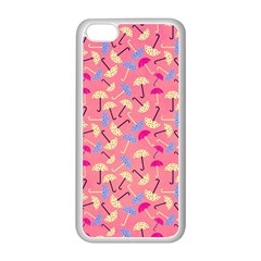 Umbrella Seamless Pattern Pink Apple Iphone 5c Seamless Case (white)