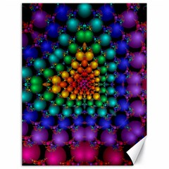 Mirror Fractal Balls On Black Background Canvas 18  X 24   by Simbadda