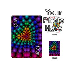Mirror Fractal Balls On Black Background Playing Cards 54 (mini)  by Simbadda