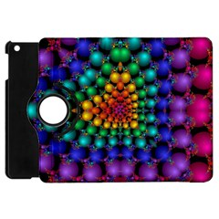 Mirror Fractal Balls On Black Background Apple Ipad Mini Flip 360 Case by Simbadda