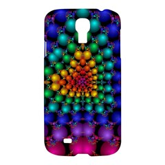 Mirror Fractal Balls On Black Background Samsung Galaxy S4 I9500/i9505 Hardshell Case by Simbadda