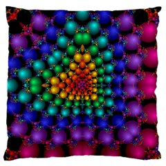 Mirror Fractal Balls On Black Background Standard Flano Cushion Case (one Side) by Simbadda