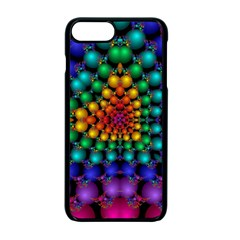 Mirror Fractal Balls On Black Background Apple Iphone 7 Plus Seamless Case (black)