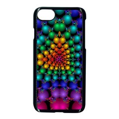 Mirror Fractal Balls On Black Background Apple Iphone 7 Seamless Case (black)