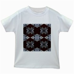 Ladder Against Wall Abstract Alternative Version Kids White T Shirts by Simbadda