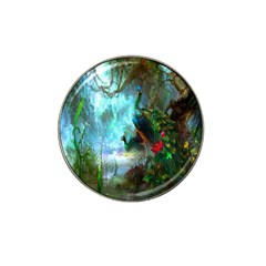 Beautiful Peacock Colorful Hat Clip Ball Marker by Simbadda