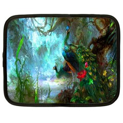 Beautiful Peacock Colorful Netbook Case (large) by Simbadda