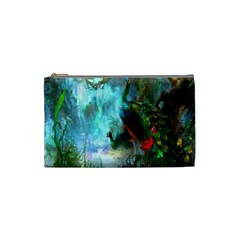 Beautiful Peacock Colorful Cosmetic Bag (small)  by Simbadda