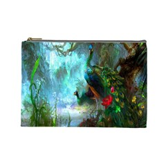 Beautiful Peacock Colorful Cosmetic Bag (large)  by Simbadda