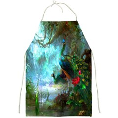 Beautiful Peacock Colorful Full Print Aprons by Simbadda