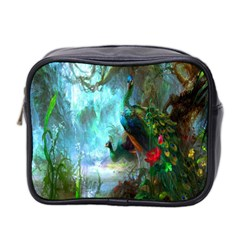 Beautiful Peacock Colorful Mini Toiletries Bag 2 Side by Simbadda
