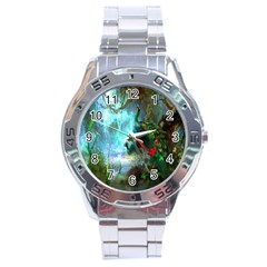 Beautiful Peacock Colorful Stainless Steel Analogue Watch