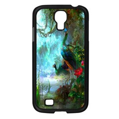 Beautiful Peacock Colorful Samsung Galaxy S4 I9500/ I9505 Case (black)