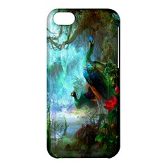 Beautiful Peacock Colorful Apple Iphone 5c Hardshell Case by Simbadda