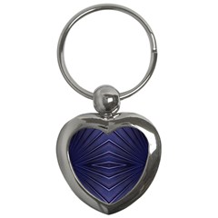 Blue Metal Abstract Alternative Version Key Chains (heart)
