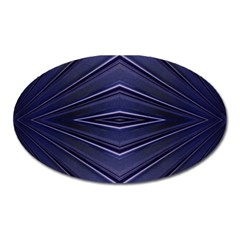 Blue Metal Abstract Alternative Version Oval Magnet by Simbadda