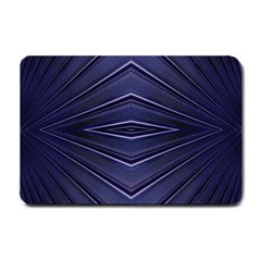 Blue Metal Abstract Alternative Version Small Doormat  by Simbadda