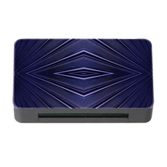 Blue Metal Abstract Alternative Version Memory Card Reader With Cf
