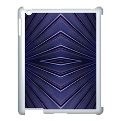 Blue Metal Abstract Alternative Version Apple Ipad 3/4 Case (white) by Simbadda