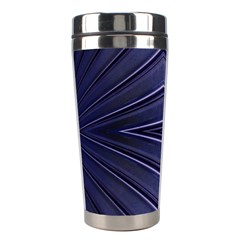 Blue Metal Abstract Alternative Version Stainless Steel Travel Tumblers by Simbadda