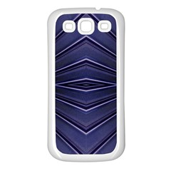 Blue Metal Abstract Alternative Version Samsung Galaxy S3 Back Case (white)