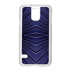Blue Metal Abstract Alternative Version Samsung Galaxy S5 Case (white) by Simbadda