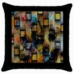 Fabric Weave Throw Pillow Case (black) by Simbadda