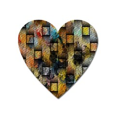 Fabric Weave Heart Magnet by Simbadda