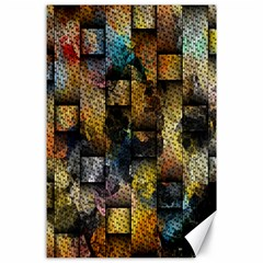 Fabric Weave Canvas 24  X 36  by Simbadda
