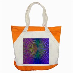 Blue Fractal That Looks Like A Starburst Accent Tote Bag