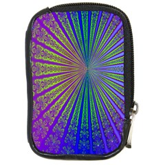 Blue Fractal That Looks Like A Starburst Compact Camera Cases by Simbadda