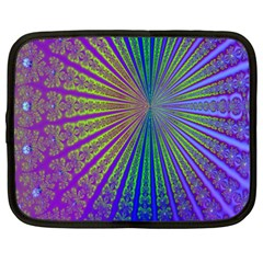 Blue Fractal That Looks Like A Starburst Netbook Case (xxl)