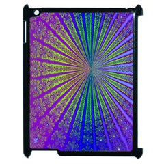 Blue Fractal That Looks Like A Starburst Apple Ipad 2 Case (black) by Simbadda