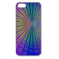 Blue Fractal That Looks Like A Starburst Apple Seamless Iphone 5 Case (clear) by Simbadda