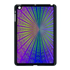 Blue Fractal That Looks Like A Starburst Apple Ipad Mini Case (black) by Simbadda