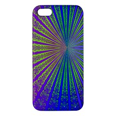 Blue Fractal That Looks Like A Starburst Apple Iphone 5 Premium Hardshell Case