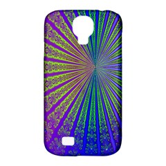 Blue Fractal That Looks Like A Starburst Samsung Galaxy S4 Classic Hardshell Case (pc+silicone) by Simbadda