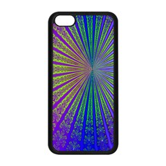 Blue Fractal That Looks Like A Starburst Apple Iphone 5c Seamless Case (black) by Simbadda