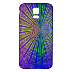 Blue Fractal That Looks Like A Starburst Samsung Galaxy S5 Back Case (white) by Simbadda